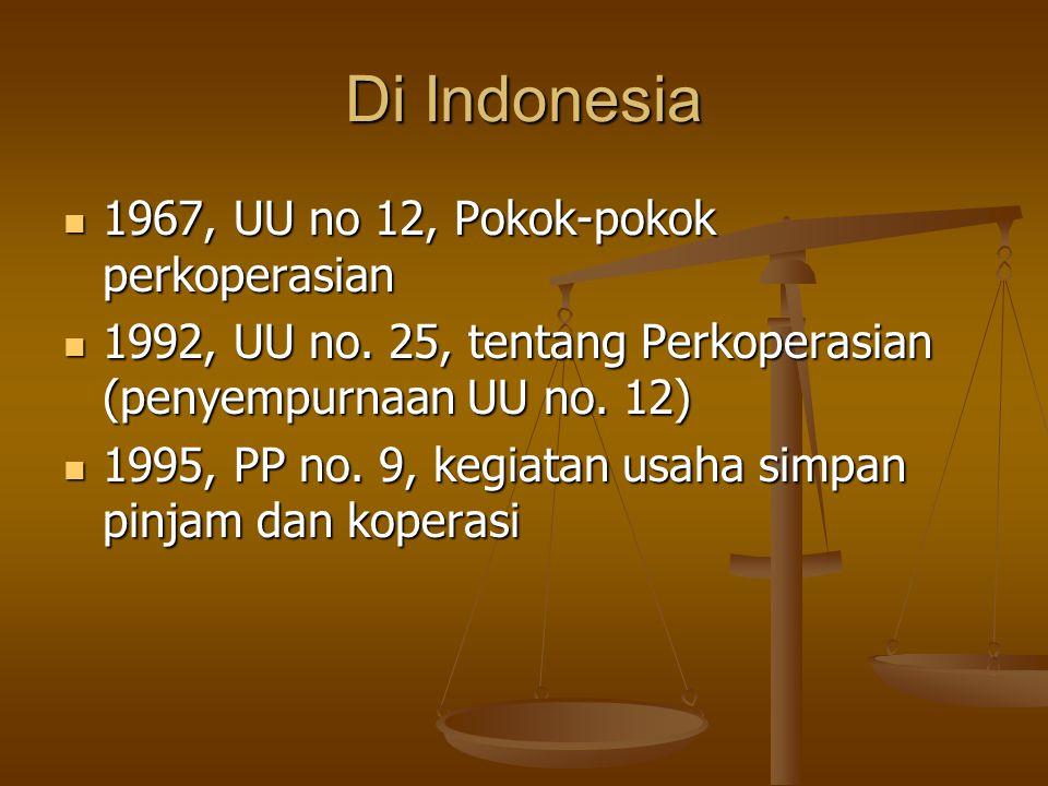 Di Indonesia 1967, UU no 12, Pokok-pokok perkoperasian