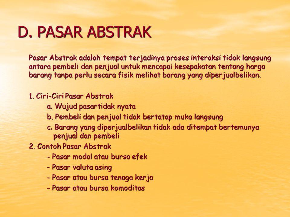 D. PASAR ABSTRAK