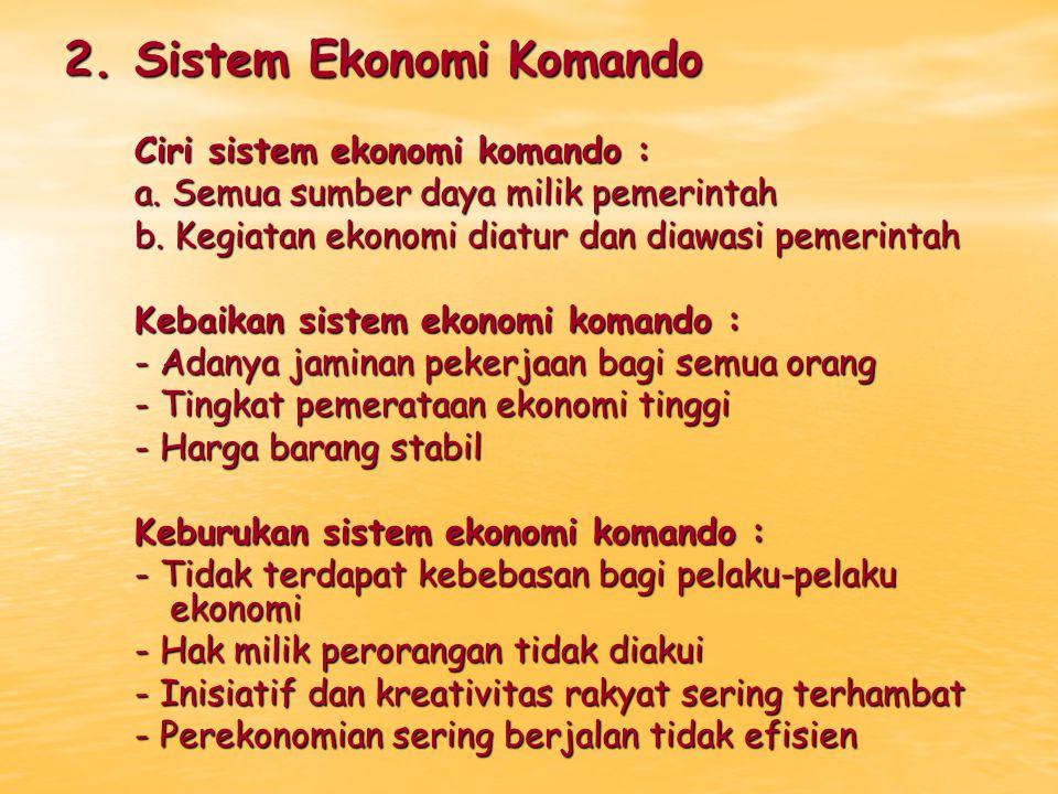 2. Sistem Ekonomi Komando