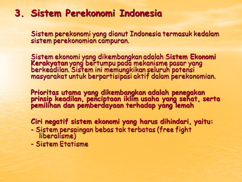 3. Sistem Perekonomi Indonesia