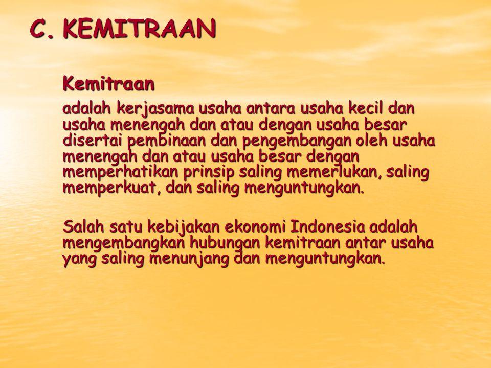 C. KEMITRAAN Kemitraan.