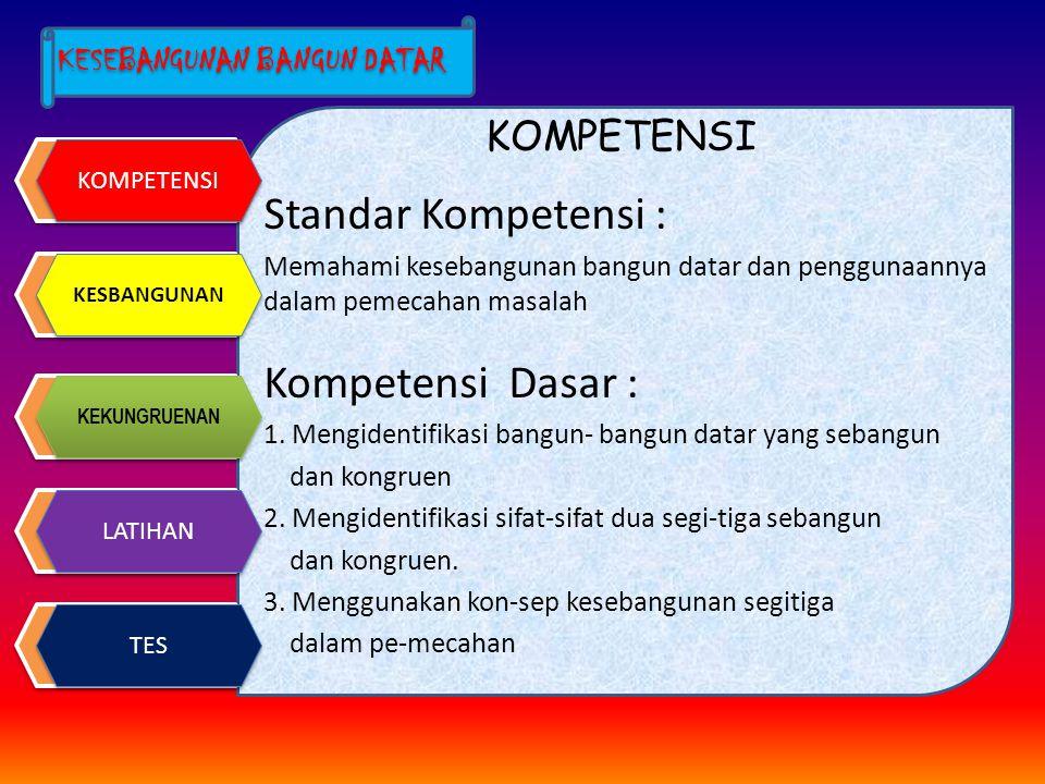 Standar Kompetensi : Kompetensi Dasar : KOMPETENSI