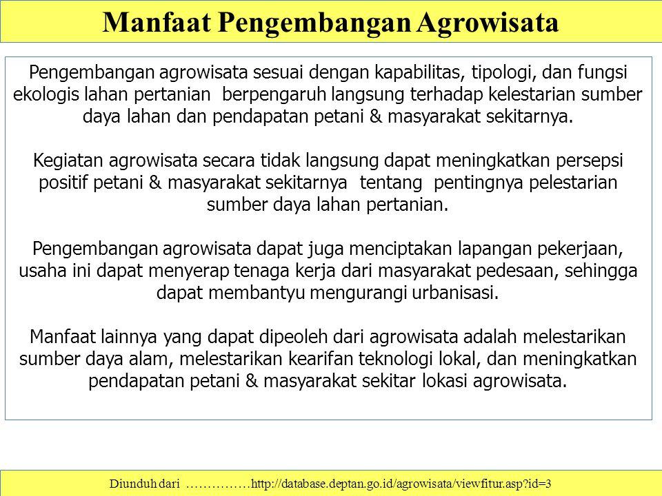 Manfaat Pengembangan Agrowisata