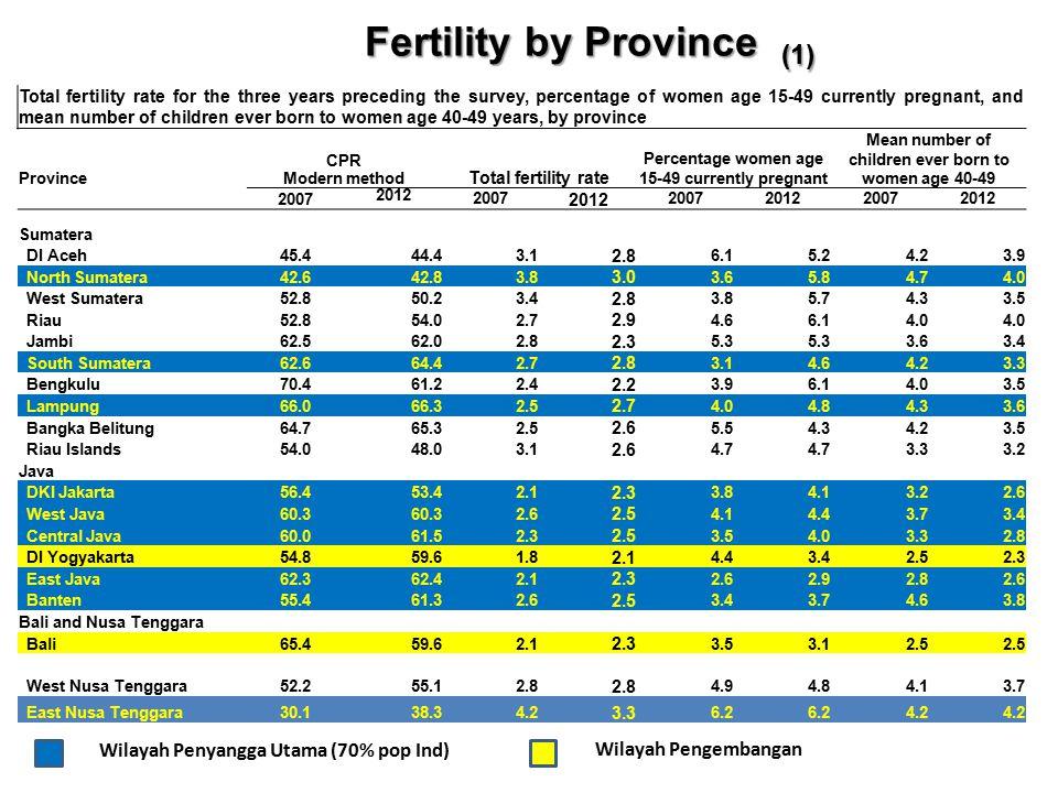 Fertility by Province (1)