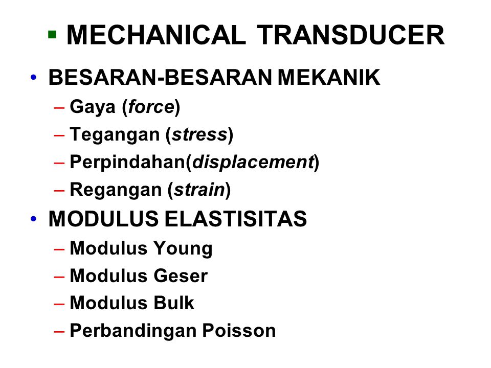 MECHANICAL TRANSDUCER