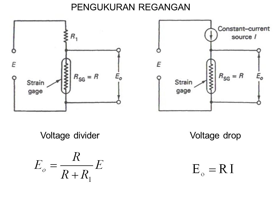 PENGUKURAN REGANGAN Voltage divider Voltage drop