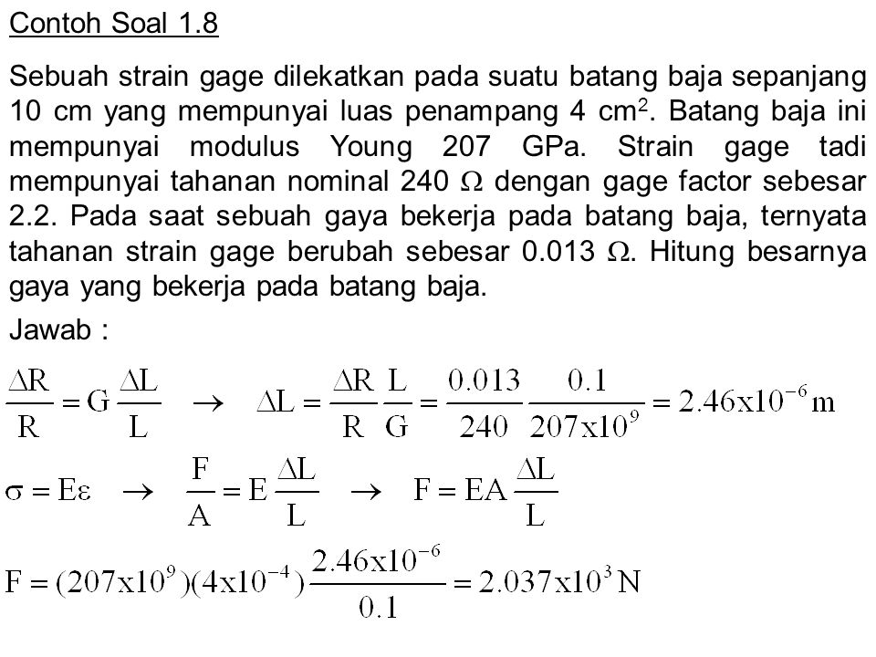 Contoh Soal 1.8