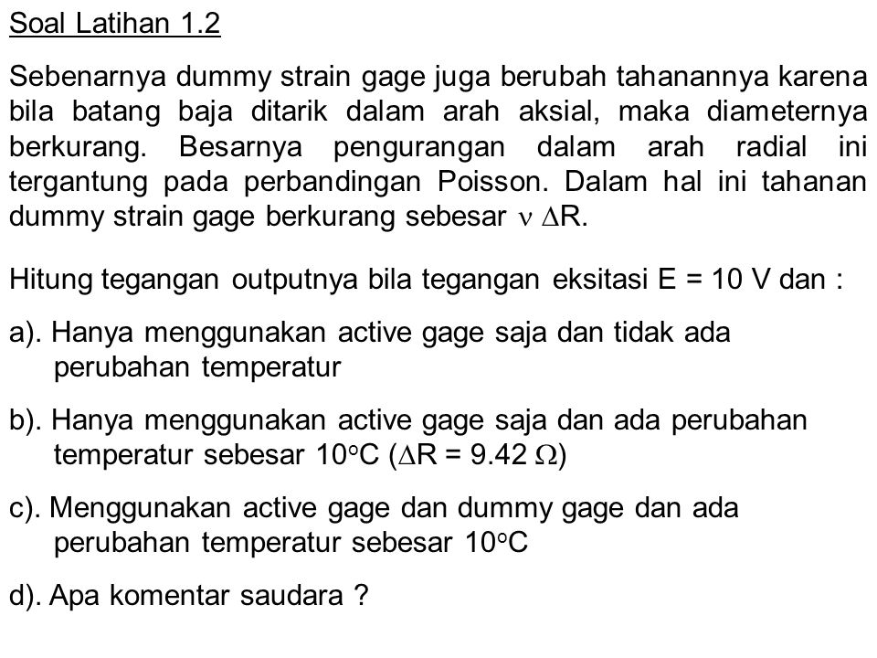 Soal Latihan 1.2