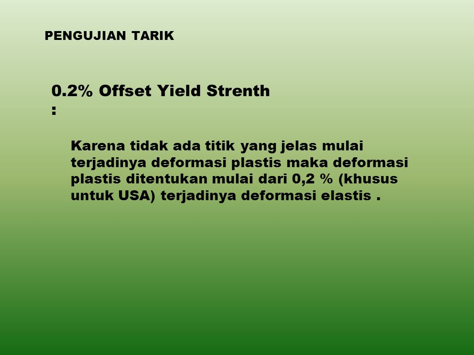 0.2% Offset Yield Strenth :