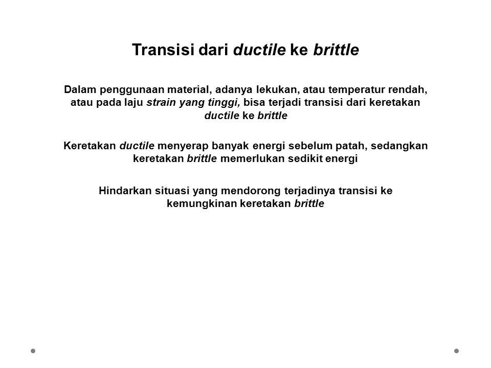Transisi dari ductile ke brittle