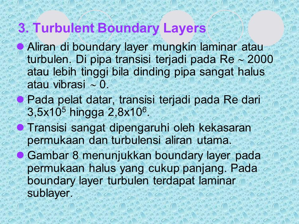 3. Turbulent Boundary Layers