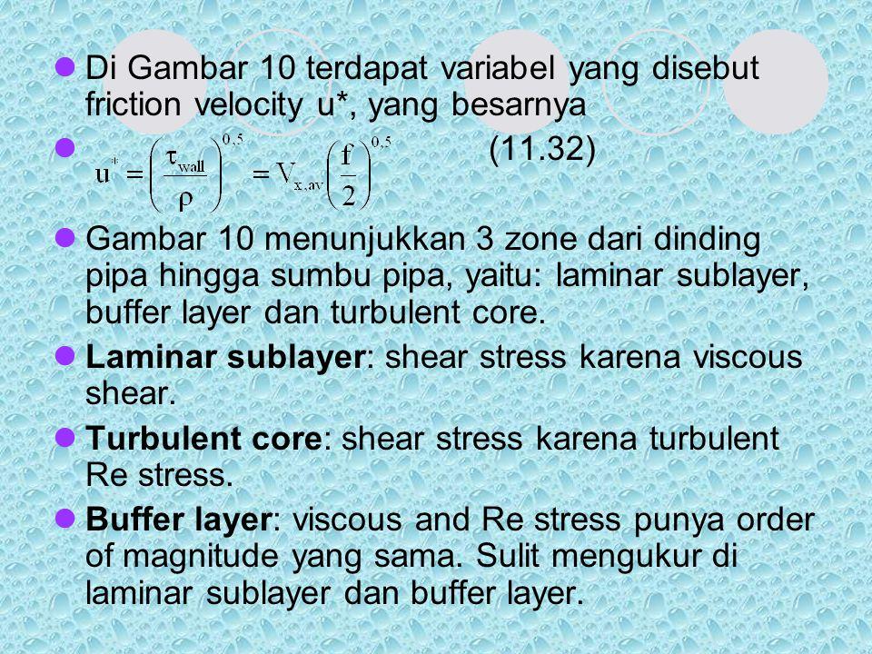 Di Gambar 10 terdapat variabel yang disebut friction velocity u
