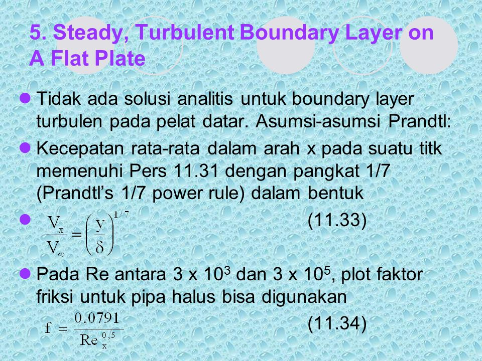 5. Steady, Turbulent Boundary Layer on A Flat Plate