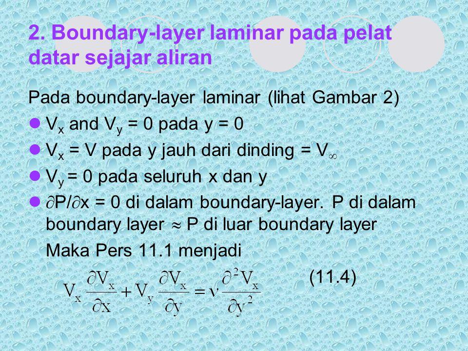 2. Boundary-layer laminar pada pelat datar sejajar aliran