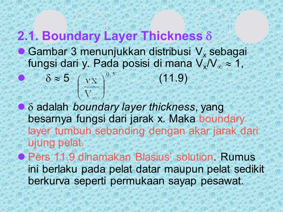 2.1. Boundary Layer Thickness 