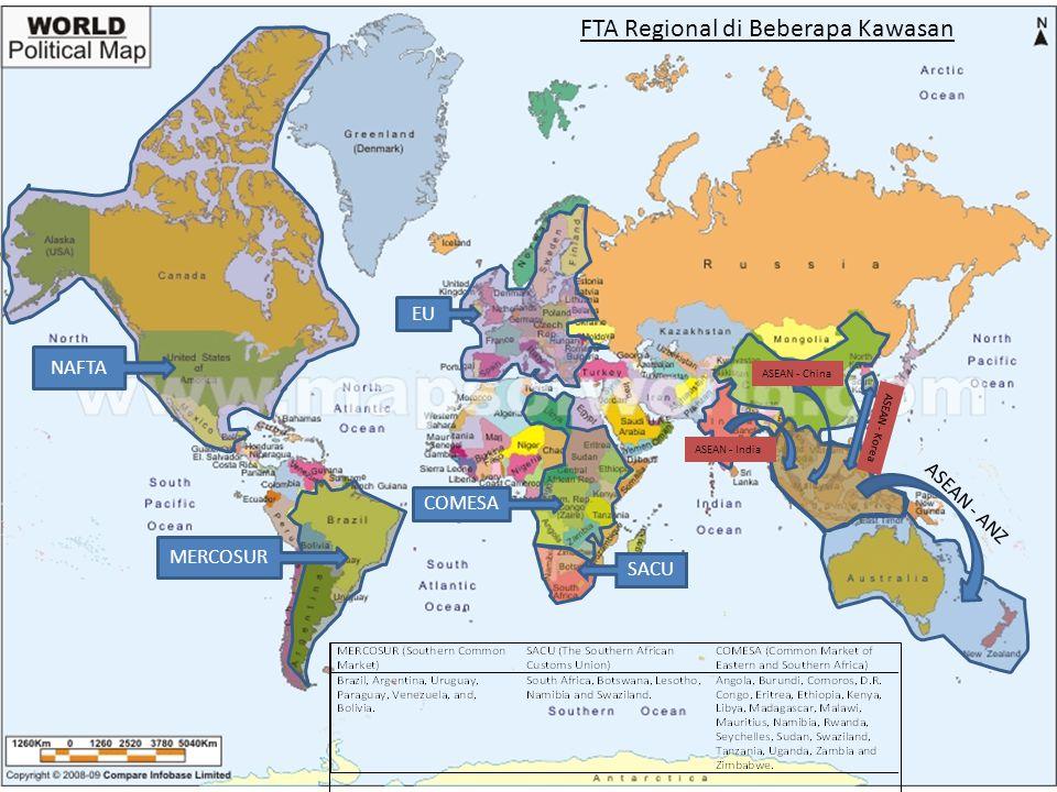 FTA Regional di Beberapa Kawasan