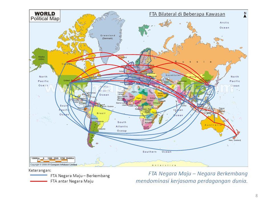 Keterangan: FTA Negara Maju – Berkembang. FTA antar Negara Maju.