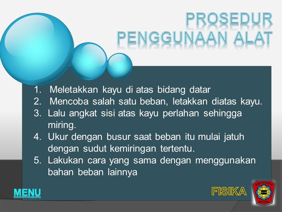 Prosedur penggunaan Alat