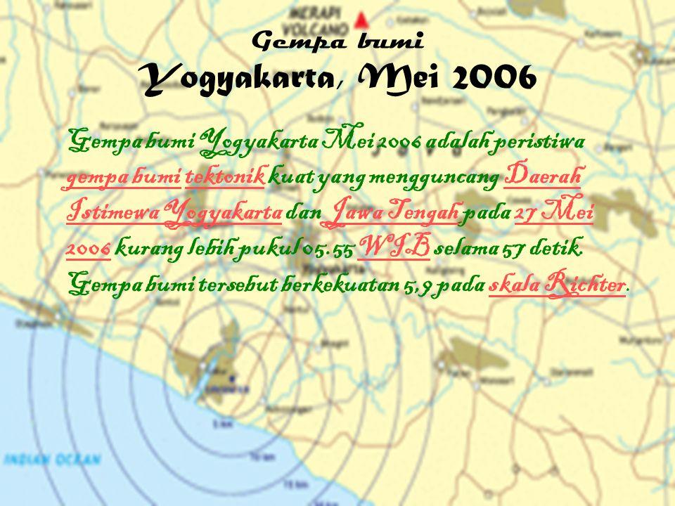 Gempa bumi Yogyakarta, Mei 2006