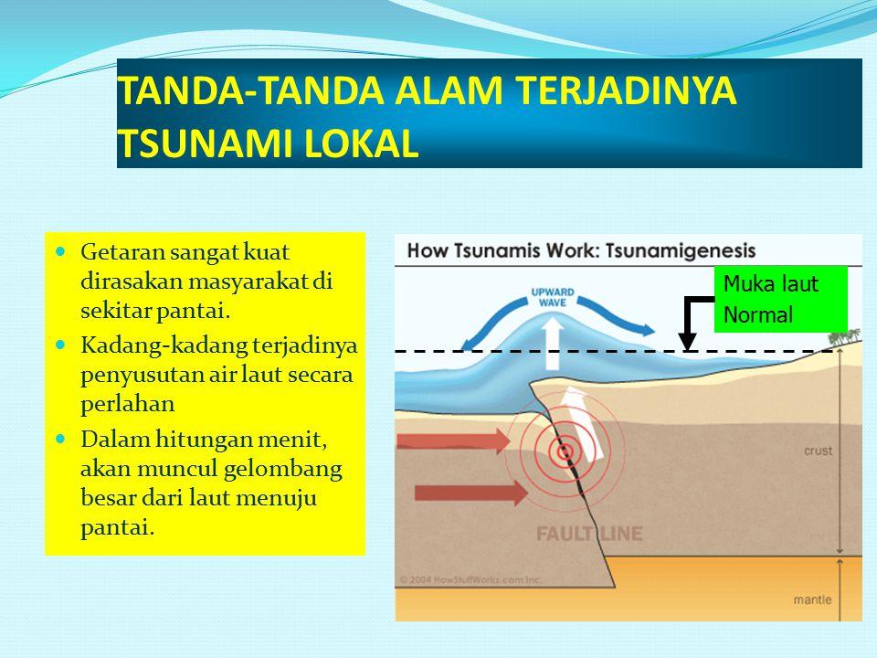 TANDA-TANDA ALAM TERJADINYA TSUNAMI LOKAL