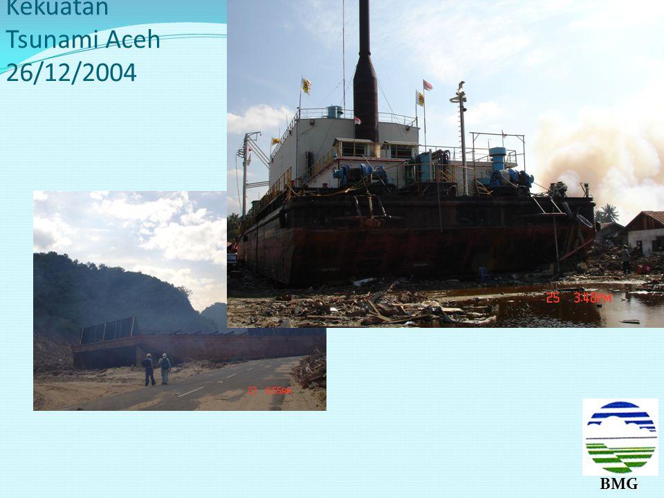 Kekuatan Tsunami Aceh 26/12/2004