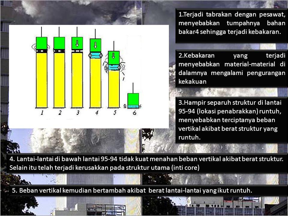 1.Terjadi tabrakan dengan pesawat, menyebabkan tumpahnya bahan bakar4 sehingga terjadi kebakaran.