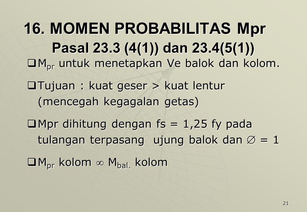 16. MOMEN PROBABILITAS Mpr Pasal 23.3 (4(1)) dan 23.4(5(1))