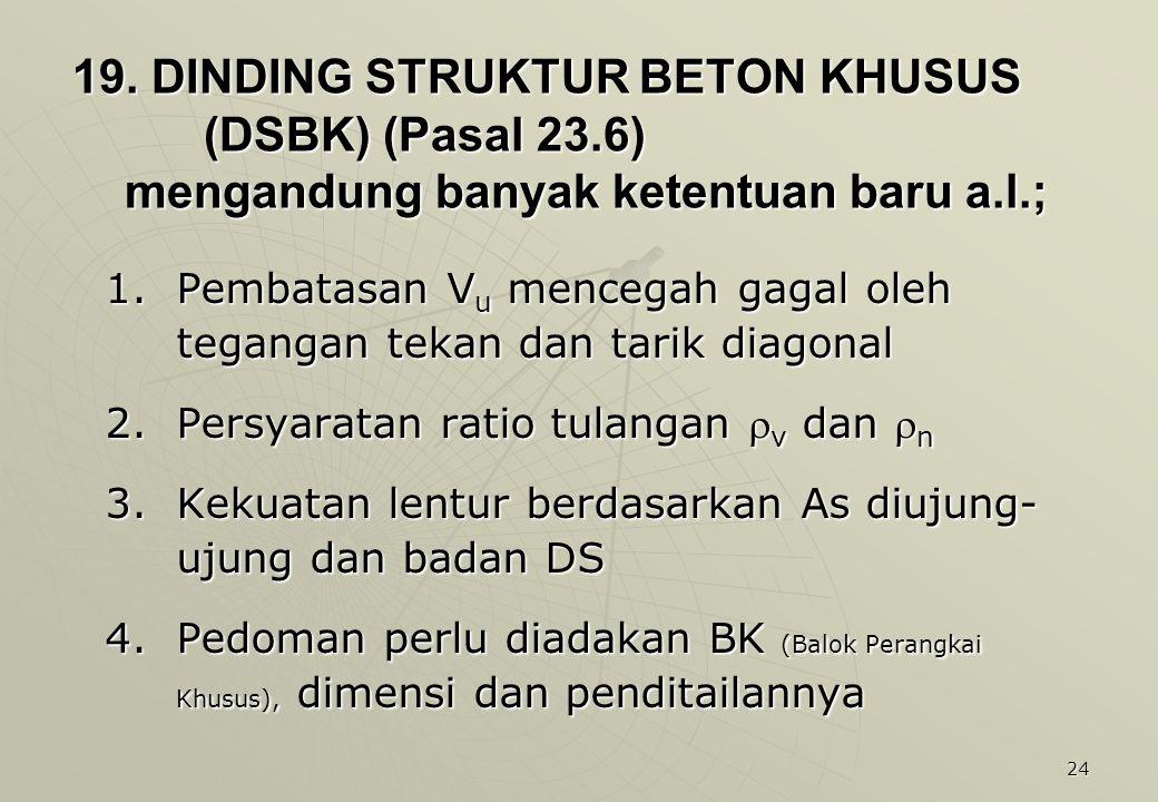 19. DINDING STRUKTUR BETON KHUSUS (DSBK) (Pasal 23