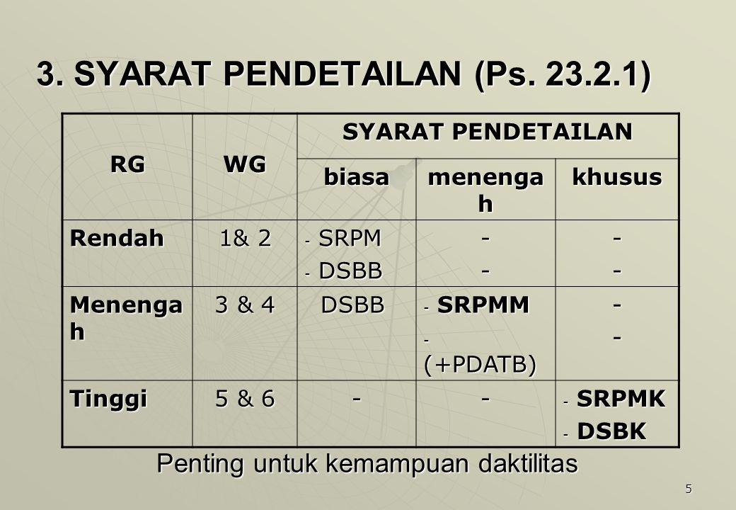 3. SYARAT PENDETAILAN (Ps. 23.2.1)