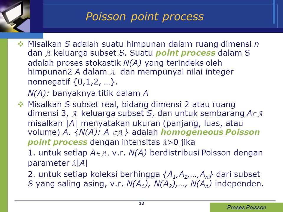 Poisson point process