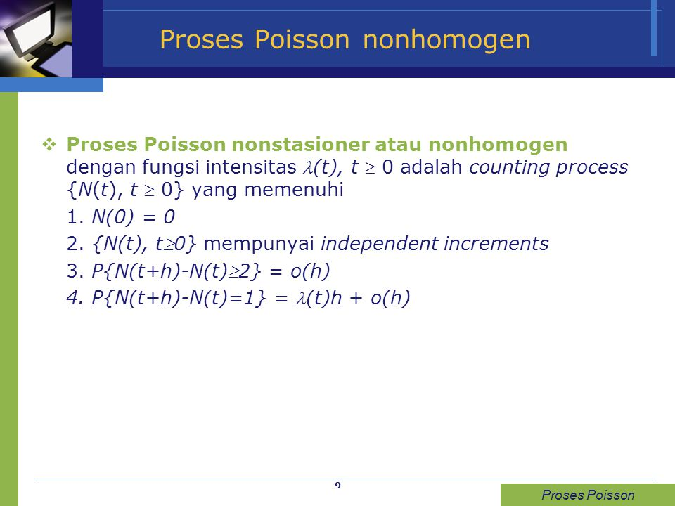 Proses Poisson nonhomogen