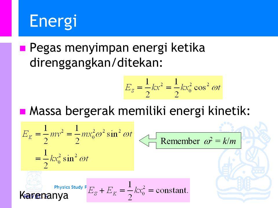 Energi Pegas menyimpan energi ketika direnggangkan/ditekan: