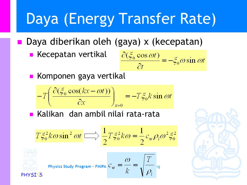 Daya (Energy Transfer Rate)