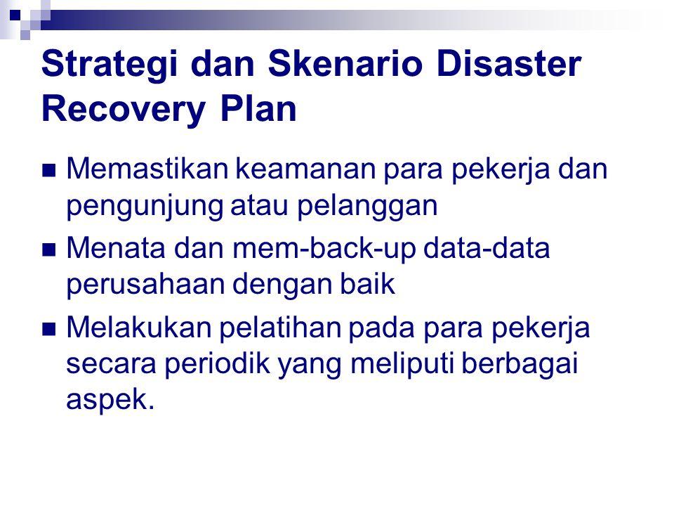 Strategi dan Skenario Disaster Recovery Plan