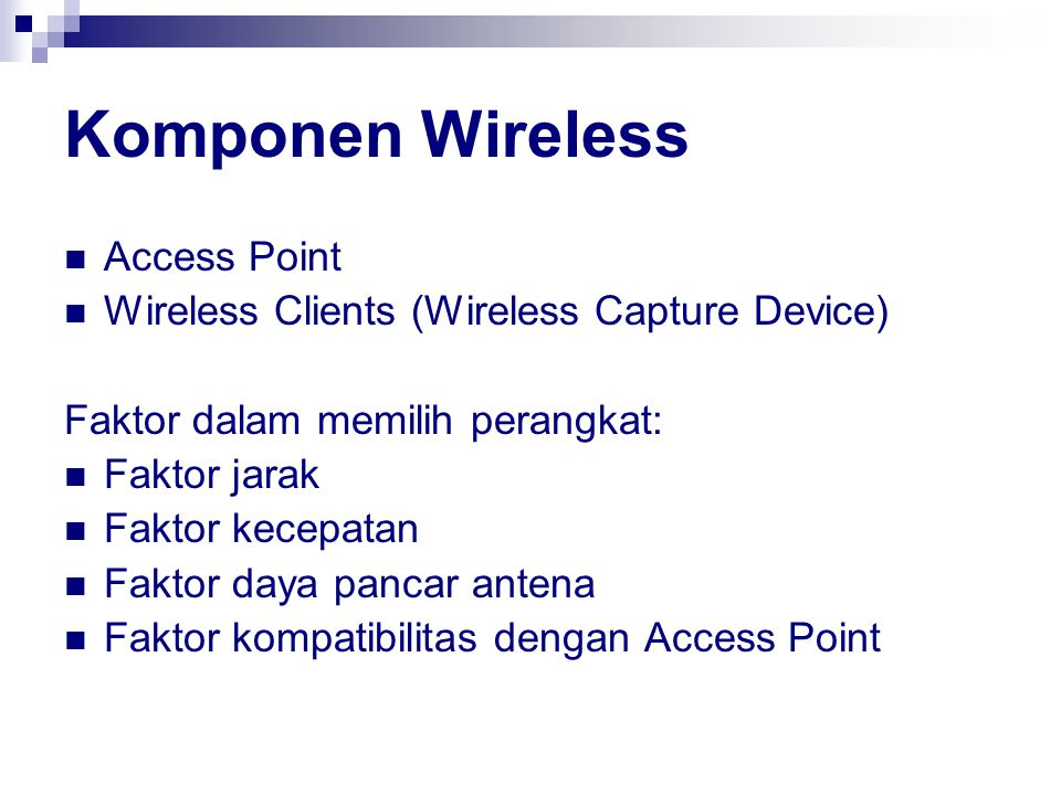 Komponen Wireless Access Point