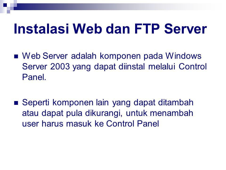 Instalasi Web dan FTP Server