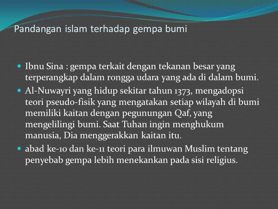 Pandangan islam terhadap gempa bumi