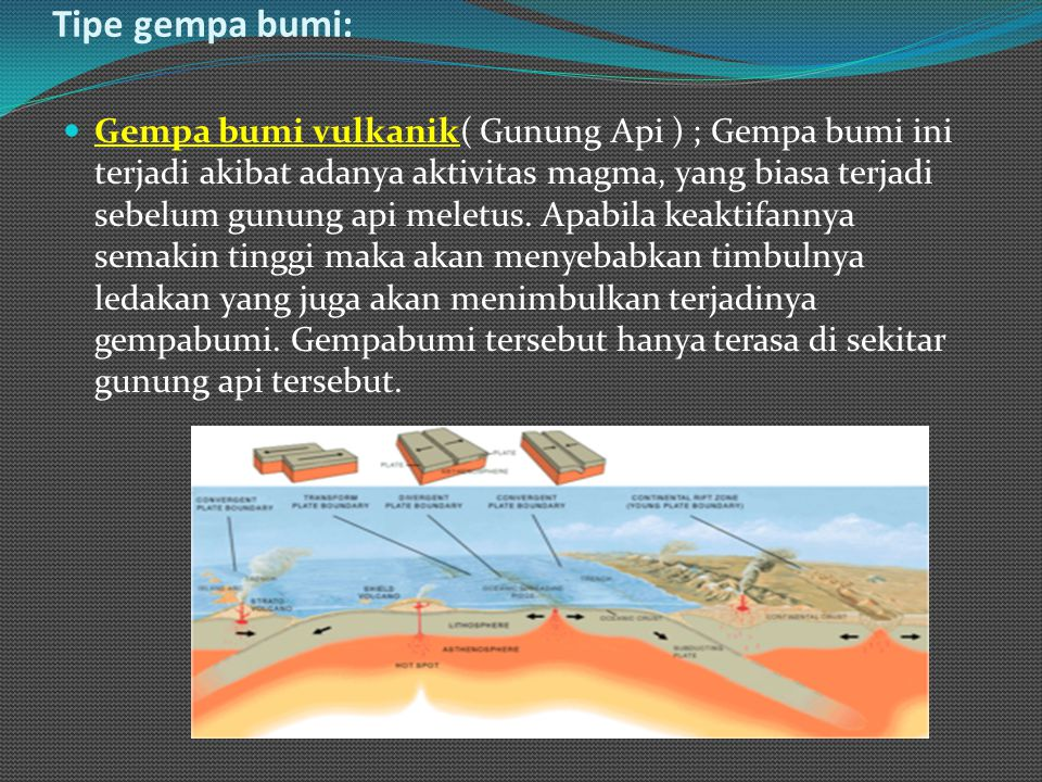 Tipe gempa bumi: