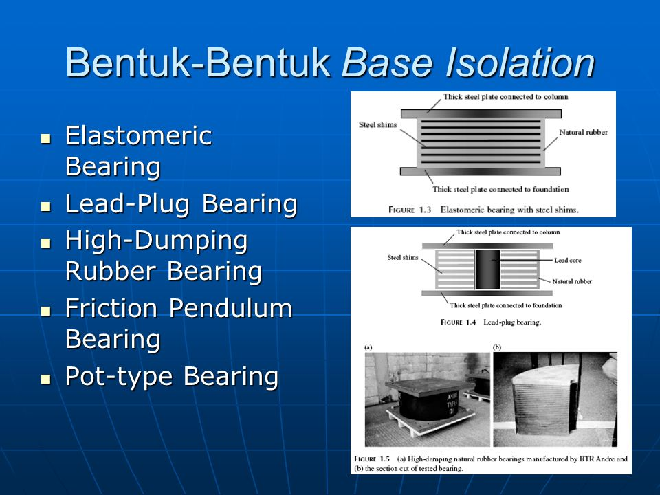 Bentuk-Bentuk Base Isolation