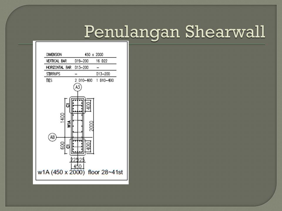 Penulangan Shearwall