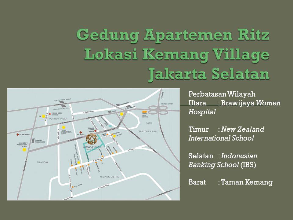 Gedung Apartemen Ritz Lokasi Kemang Village Jakarta Selatan