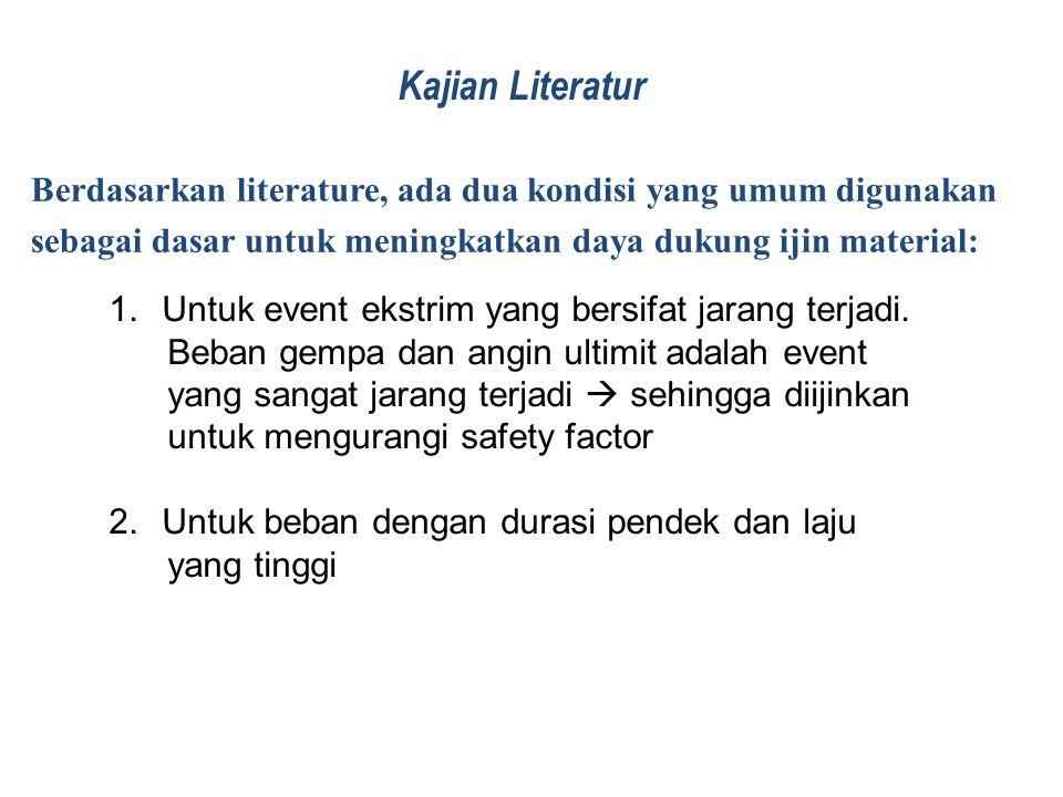 Kajian Literatur Berdasarkan literature, ada dua kondisi yang umum digunakan. sebagai dasar untuk meningkatkan daya dukung ijin material: