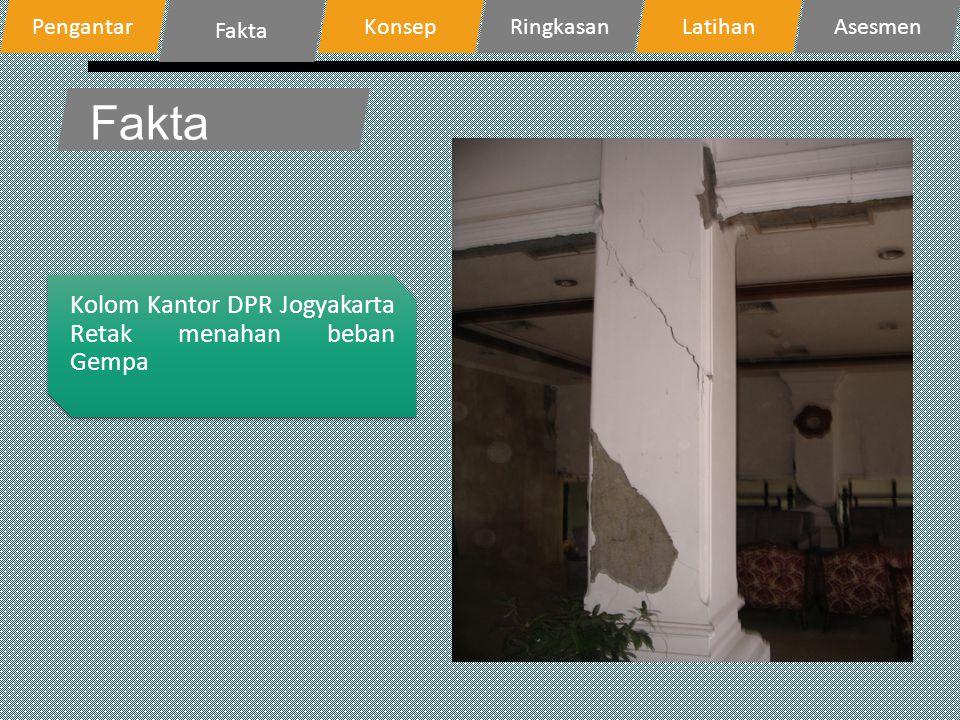 Fakta Kolom Kantor DPR Jogyakarta Retak menahan beban Gempa Pengantar