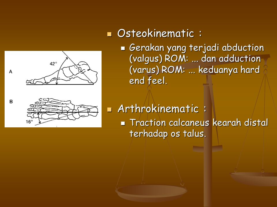 Osteokinematic : Arthrokinematic :