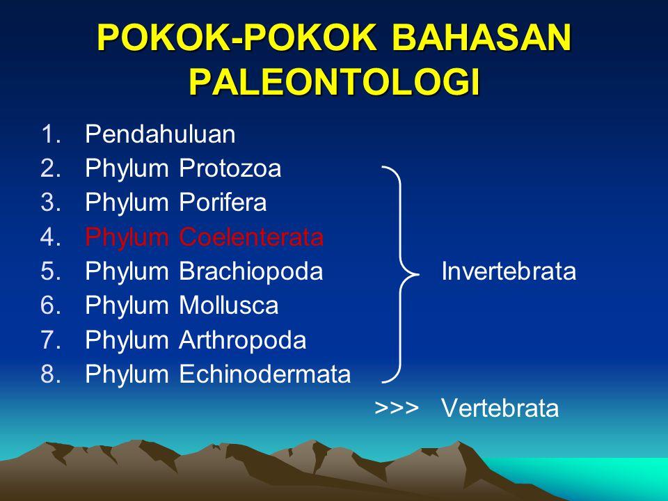 POKOK-POKOK BAHASAN PALEONTOLOGI