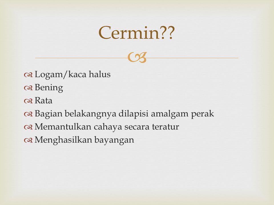 Cermin Logam/kaca halus Bening Rata