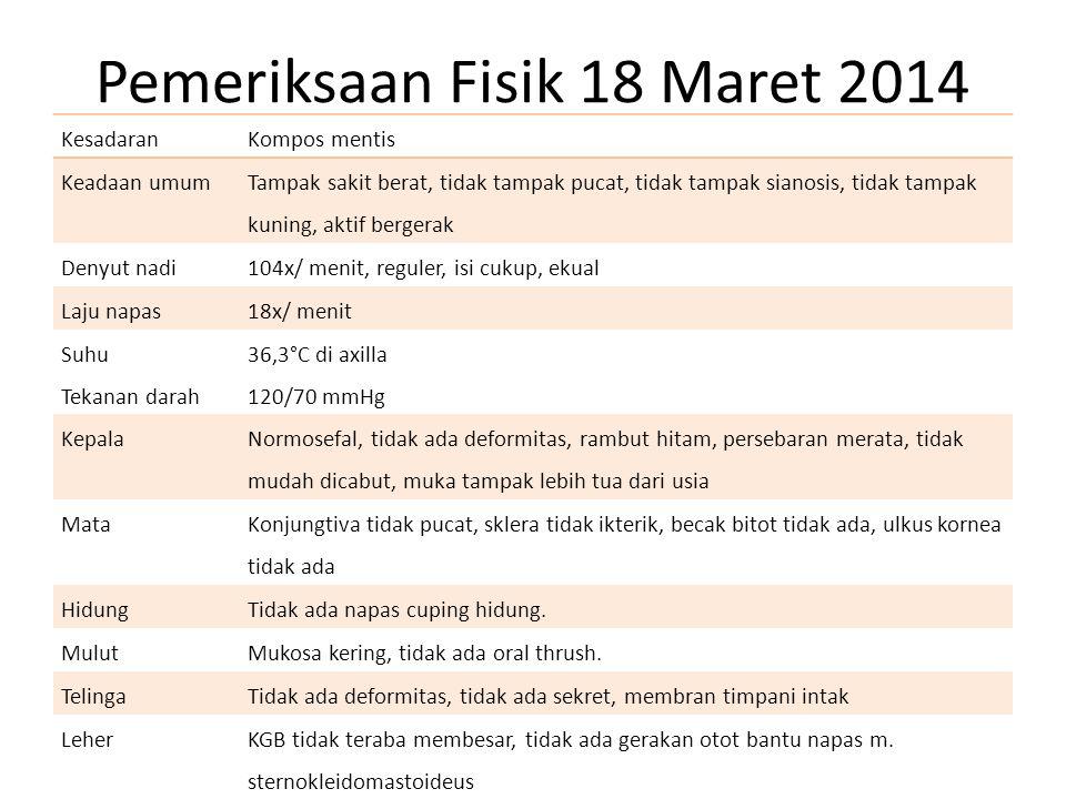Pemeriksaan Fisik 18 Maret 2014