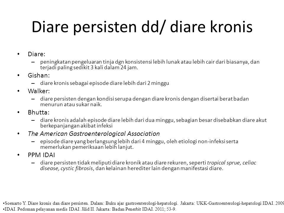 Diare persisten dd/ diare kronis