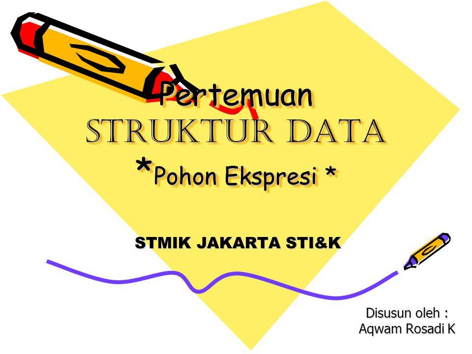 Pertemuan Struktur Data *Pohon Ekspresi *