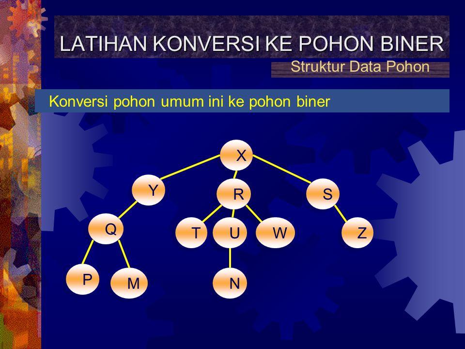 LATIHAN KONVERSI KE POHON BINER